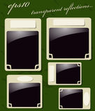 Collection of Vintage Photo Frames. Collection of Vintage Photo Frames with transparent reflections. Vector illustration EPS10 Stock Photo
