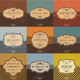 Collection of Vintage Quality Labels And Frames Stock Photography