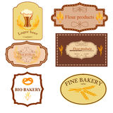 Collection of vintage retro bakery badges and labels royalty free illustration
