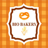 Collection of vintage retro bakery badges and labels Stock Images