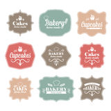 Collection of vintage retro bakery Royalty Free Stock Photography