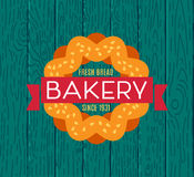 Collection of vintage retro bakery logo Stock Images
