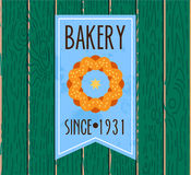 Collection of vintage retro bakery logo Royalty Free Stock Photos