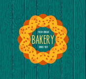 Collection of vintage retro bakery logo Royalty Free Stock Photo