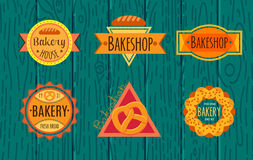 Collection of vintage retro bakery logo Stock Image