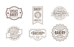 Collection of vintage retro bakery logo Royalty Free Stock Image