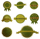 Collection of vintage retro grunge Eco and bio labels Royalty Free Stock Image
