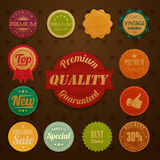 Collection of vintage retro grunge labels Royalty Free Stock Photography