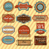Collection of vintage retro labels, badges and Stock Photos