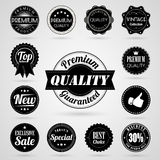 Collection of vintage retro labels Royalty Free Stock Photography