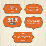 Collection - vintage and retro labels Stock Photography