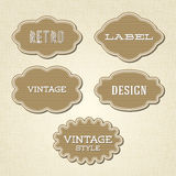 Collection - vintage and retro labels Stock Photo