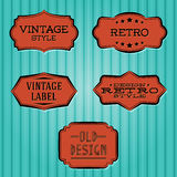 Collection - vintage and retro labels Royalty Free Stock Photos