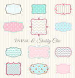 Collection of vintage and shabby chic frames, illustration Stock Images