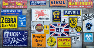 Collection of  vintage signs Royalty Free Stock Photography