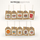 Collection of 10 Vintage Style Price Tags. Royalty Free Stock Image