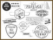Collection of vintage tags or labels. Royalty Free Stock Image
