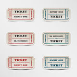 Collection vintage ticket Stock Images