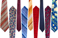 Collection of vintage ties Royalty Free Stock Image