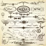 Collection of vintage  vector calligraphic design elements Stock Photography