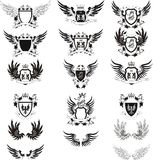 Collection of vintage vector coat of arms Stock Photography