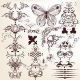Collection of vintage vector decorative elements for design royalty free illustration