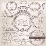 Collection of vintage vector design elements and page decoration Stock Photo
