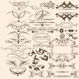 Collection of vintage vector design elements and page decoration Royalty Free Stock Image