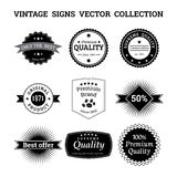 Collection of vintage vector logos and signs Stock Photo