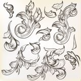 Collection of vintage vector swirls for design Royalty Free Stock Photos
