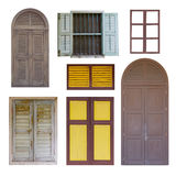 Collection of vintage window Stock Images