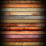 Collection of vintage wooden boards Stock Photo