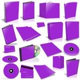 Collection violette de couverture 3d vide Images stock