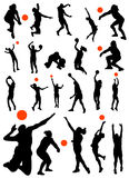 Collection of volleyball vector Stock Photos
