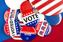 Collection of vote badges stock image