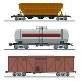 Collection of waggons Stock Image