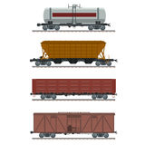 Collection of waggons Stock Photo