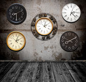 Collection of wall clock Royalty Free Stock Image