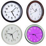 Collection of wall clocks 2 Royalty Free Stock Photos