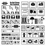Collection of Warning and Instruction symbols Royalty Free Stock Photography