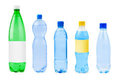 Collection of water bottles Royalty Free Stock Image