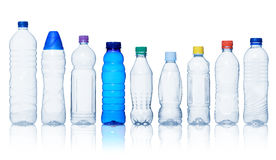 Collection of water bottles Royalty Free Stock Photos