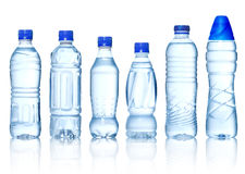 Collection of water bottles Stock Image