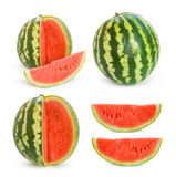 Collection of water melon images. Collection of ripe water melon images. each image was taken separately and then they were assembles into this collage Royalty Free Stock Image
