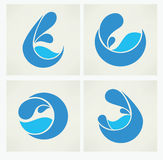 Collection of water stickers stock illustration