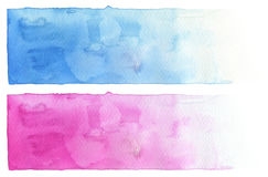 Collection of watercolor brush strokes. Isolated. Royalty Free Stock Photography