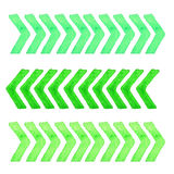 Collection of watercolor design elements isolated on white background. Set green stripes. Stock Photos