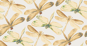 Collection of watercolor dragonflies. Royalty Free Stock Photo
