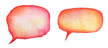 Collection of watercolor speech bubbles for text. vector illustration