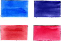 Collection of watercolor rectangles for design Stock Images